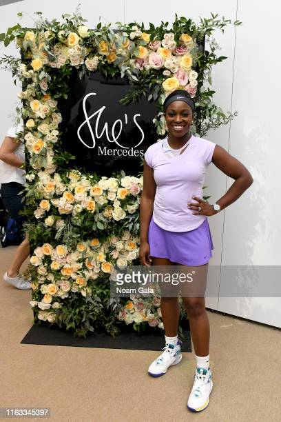 Sloane Stephens hosts a private Tennis clinic with MercedesBenz on August 21 2019 in New York City
