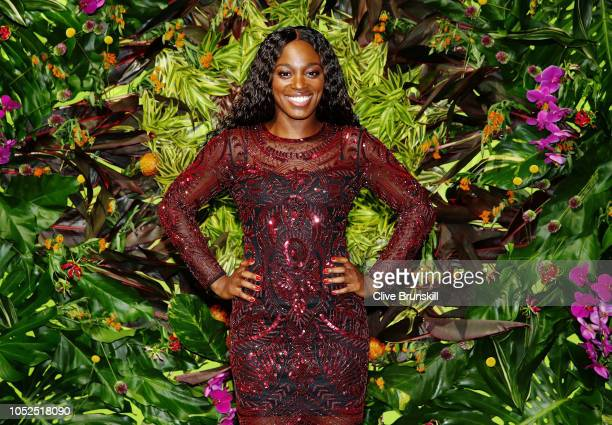 Sloane Stephens of the United States arrives during the Official Draw Ceremony and Gala of the BNP Paribas WTA Finals Singapore presented by SC...