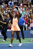 sloane stephens united states celebrates defeating