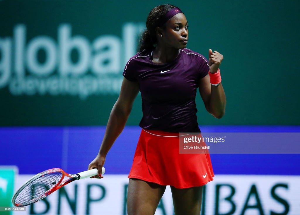 BNP Paribas WTA Finals Singapore presented by SC Global - Day 2 : News Photo