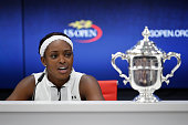 sloane stephens speacks during press conference