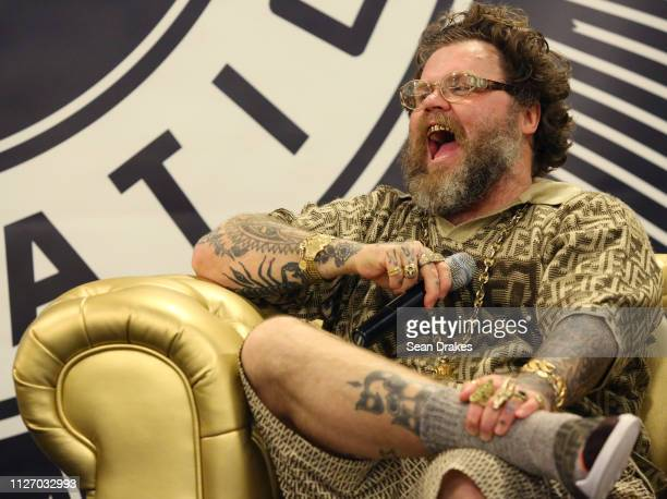 Slobby Robby participates in a panel conversation during SneakerCon 2019 at Fort Lauderdale Convention Center on February 2 2019 in Fort Lauderdale...