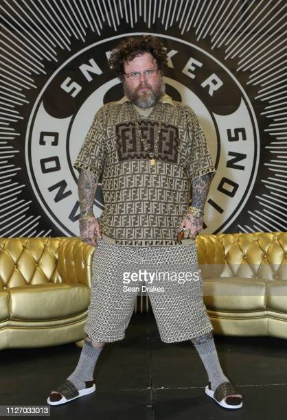 Slobby Robby poses during SneakerCon 2019 at Fort Lauderdale Convention Center on February 2 2019 in Fort Lauderdale Florida