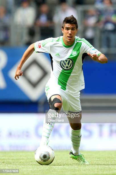 Slobodan Medojevic of Wolfsburg during the Nordcup 2013 3rd Place match between VfL Wolfsburg and Eintracht Braunschweig at Imtech Arena on July 14...