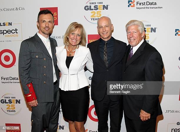Slobodan Randjelovic Ronda Stryker Jon Stryker and Bill Johnston attend 2015 GLSEN Respect Awards on June 1 2015 in New York City