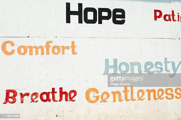 Slogans on public wall in Cochin, Kerala