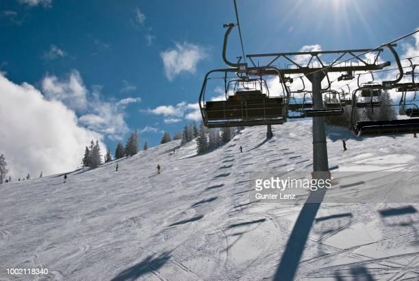Slope and chairlift, Scheffau, Skiworld Wilder Kaiser, Tyrol, Austria