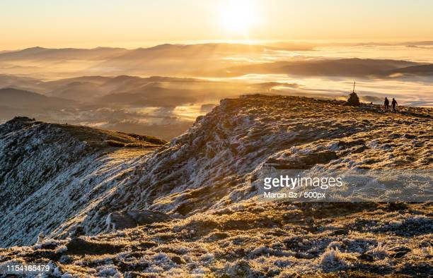 slopes of devil's peak - babia góra mountain stock pictures, royalty-free photos & images