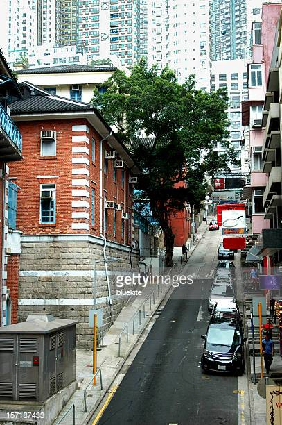 sloping narrow road - the slants stock pictures, royalty-free photos & images