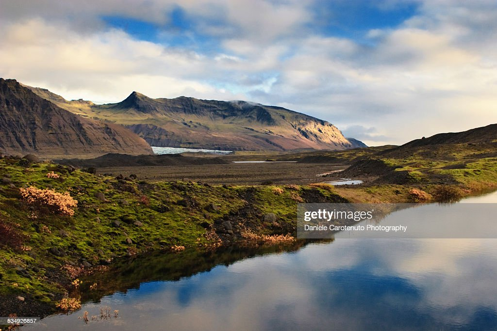 Sloping waters : Stock Photo