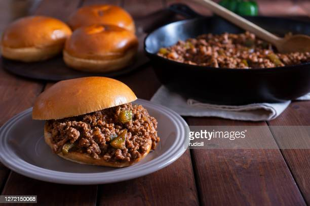 sloppy joe sandwich - sloppy joe, jr stock pictures, royalty-free photos & images