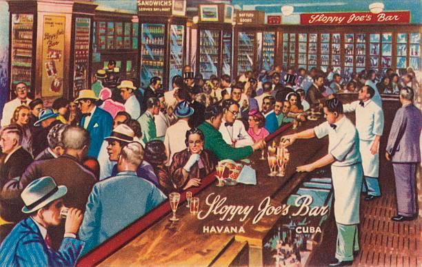 Sloppy Joe'S Bar, Havana, Cuba, 1951.