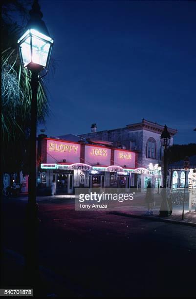 sloppy joe's bar, key west. - sloppy joe, jr stock-fotos und bilder