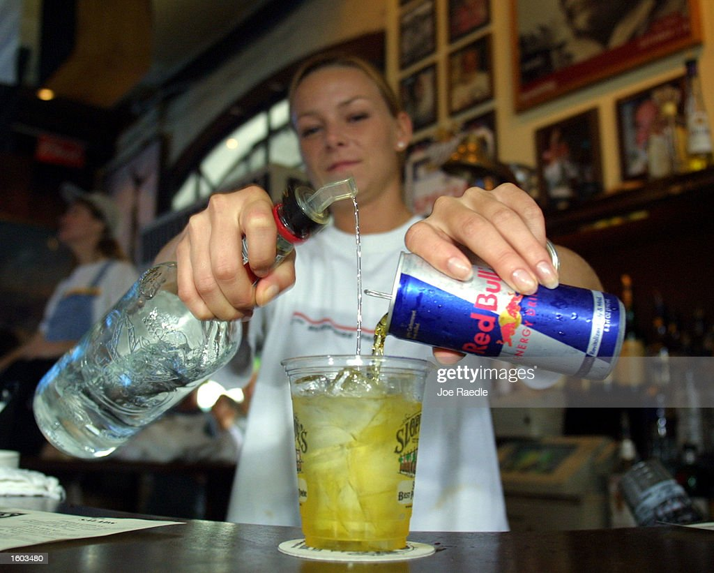 Red Bull Energy Drink Mixed With Alcohol : News Photo