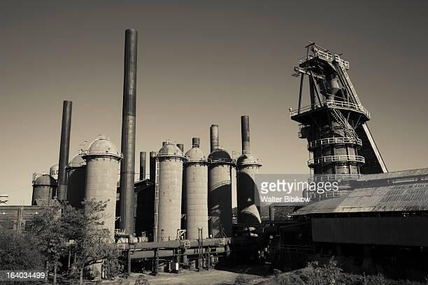 sloss furnaces national historic landmark - national_historic_landmark stock pictures, royalty-free photos & images