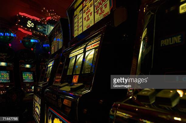 slot machine in a casino, new orleans, louisiana, usa - gambling addiction stock pictures, royalty-free photos & images