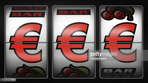 slot machine winner euro - coin operated stock photos and pictures