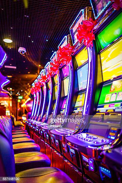slot machines in casino - casino stock pictures, royalty-free photos & images