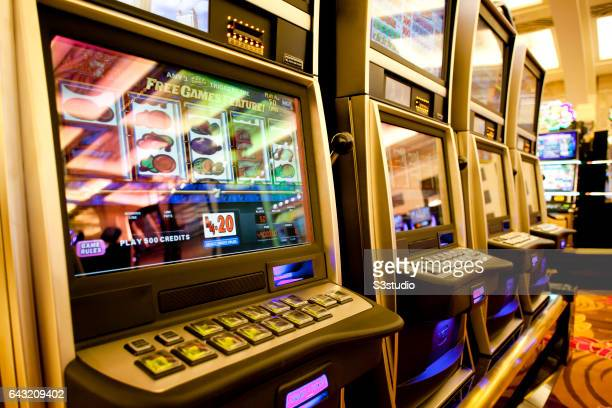 Slot machines on the casino floor two days before the Grand Opening of the Galaxy Macau hotel and casino on Friday May 13 2011