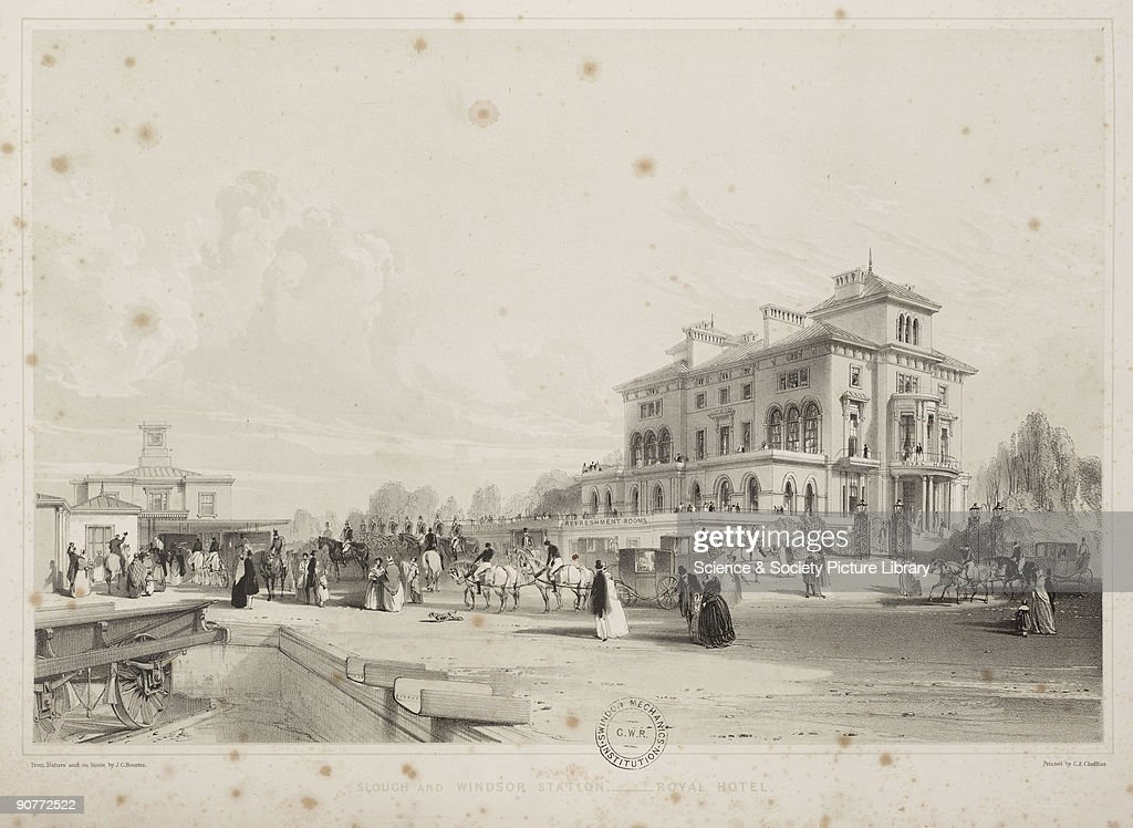 Slough and Windsor station, 1845 : News Photo