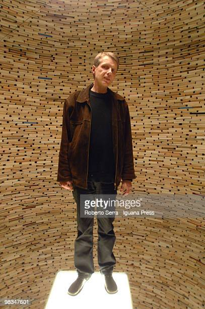 "Slovak artis Matej Kren inside his biggest work ""Scanner"" at MAMBO Museum of Modern Art of Bologna on April 9, 2010 in Bologna, Italy."