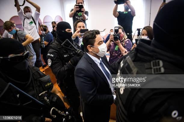 Slovak businessman Marian Kocner , suspected of ordering the 2018 assassination of investigative journalist Jan Kuciak and his fiancee Martina...