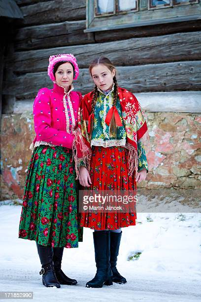 slovak folk dresses - traditionally slovak stock pictures, royalty-free photos & images