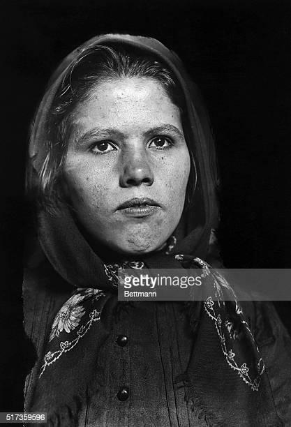 A Slovak immigrant women at Ellis Island