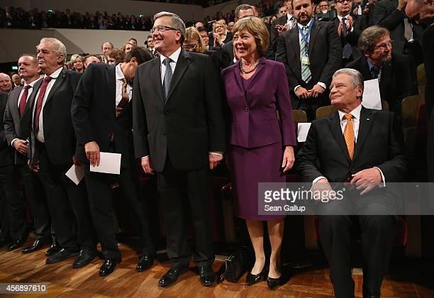 Slovak President Andrej Kiska Czech President Milos Zeman Hungarian President Janos Ader Polish President Bronislaw Komorowski German First Lady...