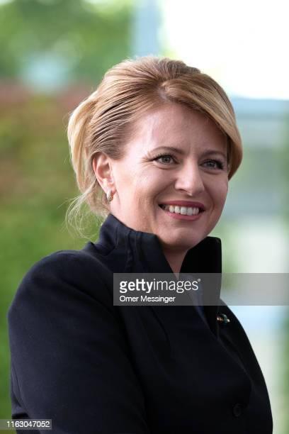 Slovak President Zuzana Caputova arrives at the Federal Chancellery on August 21 2019 in Berlin Germany Caputova who began her political career as an...