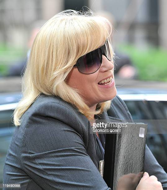 Slovak Prime Minister Iveta Radicova arrives for the EU summit on July 21 2010 at the European Council headquarters in BrusselsEurozone leaders...