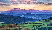 Slovakia and Poland countryside, Tatras