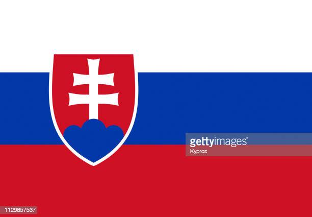 slovakia flag - slovakia stock pictures, royalty-free photos & images