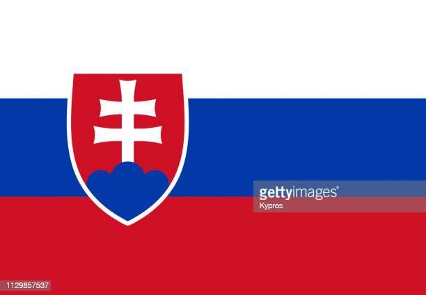slovakia flag - eslováquia imagens e fotografias de stock