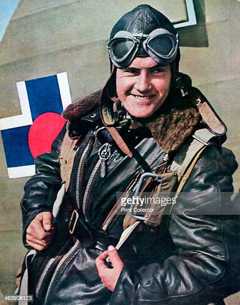 Slovakian pilot serving with the Luftwaffe in the Mediterranean 1943 A print from Signal April 1943 Signal was a magazine published by the German...