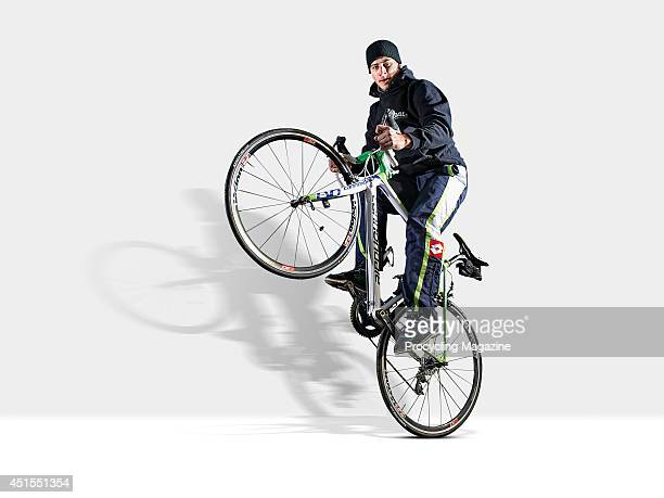 Slovakian professional road race cyclist Peter Sagan of team Cannondale photographed during a portrait shoot for Procycling Magazine, December 20,...