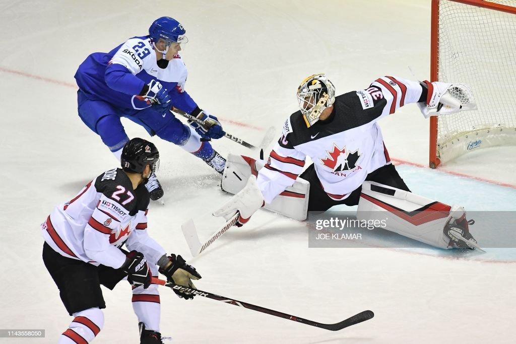 IHOCKEY-WC-IIHF-SVK-CAN : News Photo