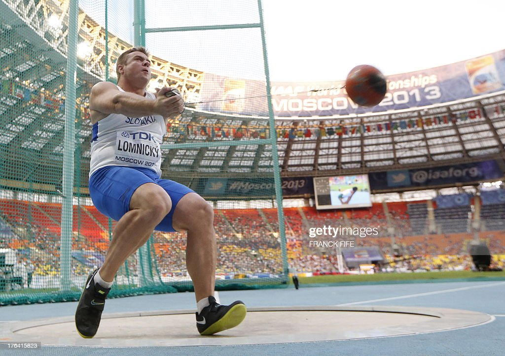 Slovakia's Marcel Lomnicky competes in the men's hammer ...