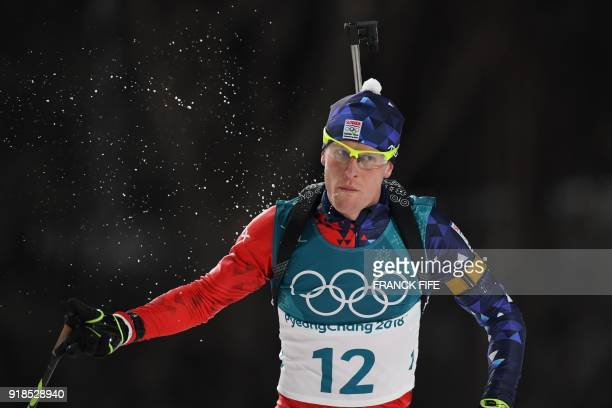 TOPSHOT Slovakia's Martin Otcenas competes in the men's 20km individual biathlon event during the Pyeongchang 2018 Winter Olympic Games on February...