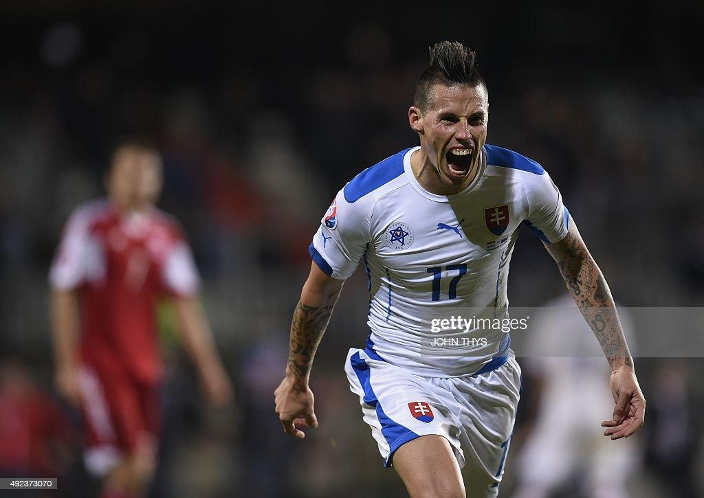 FBL-EURO-2016-LUX-SVK : News Photo
