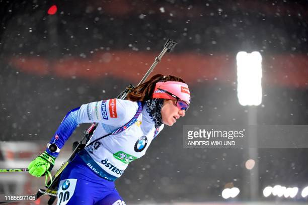 Slovakia's Paulina Fialkova competes during the mix relay event of the World Cup in biathlon in Ostersund, Sweden, on November 30, 2019. / Sweden OUT