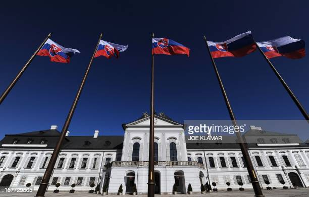 Slovakia's Presidential Palace is pictured at May square in Bratislava on March 1 2010 AFP PHOTO/JOE KLAMAR