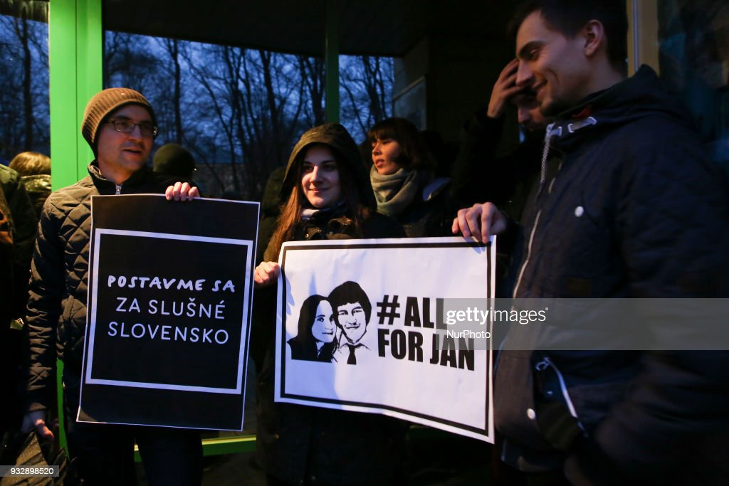 Slovakia anti-government protest in Krakow