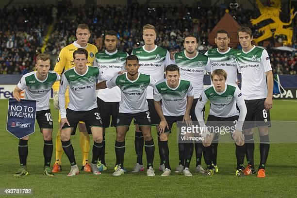 Slovan Liberec,Europa Leauge, Teamfoto, Boven, v.l.n.r, keeper Sergio Padt of FC Groningen, Abel Tamata of FC Groningen, Kasper Larsen of FC...