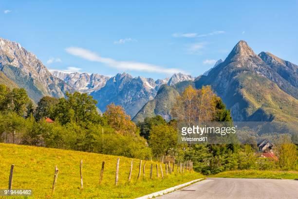 Slovenia, Bovec, Triglav National Park, Kanin Valley in autumn