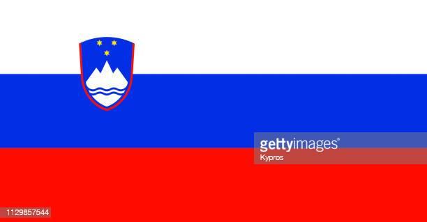 slovenia flag - slowenien stock-fotos und bilder