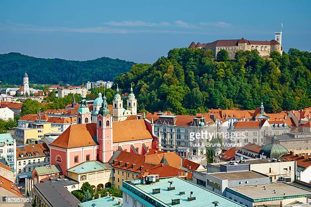slovenia, ljubljana, cityscape - slovenia stock pictures, royalty-free photos & images