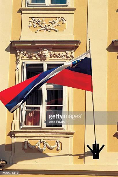 slovenia, ljubljana, slovenian flag - スロベニア国旗 ストックフォトと画像