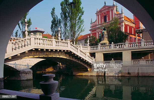 Slovenia, Ljubljana, Triple Bridge