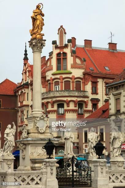 Slovenia, Maribor, Main Square, Plague Monument